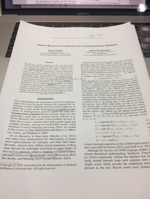 Siamese LSTM을 이용한 Quora 질문 유사도 판별 · The Missing Papers