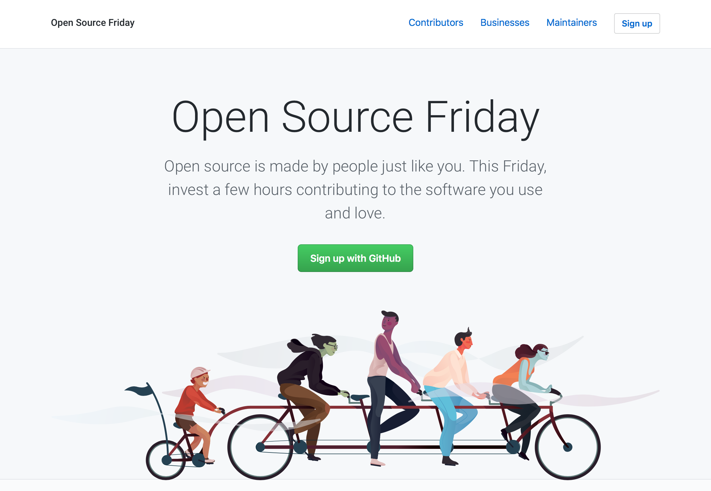 contribute on open source friday github