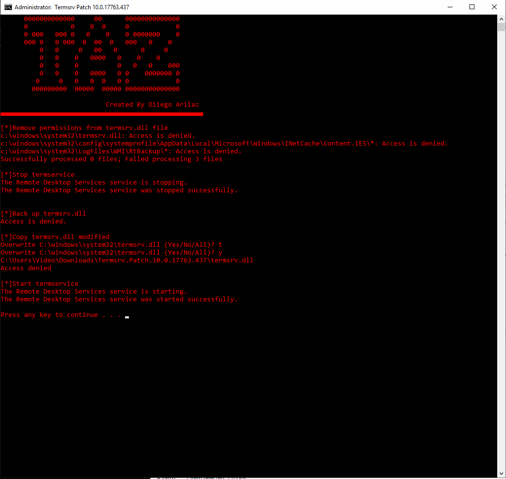 Termsrv dll Patch 10 0 17763 437 · Issue #750 · stascorp