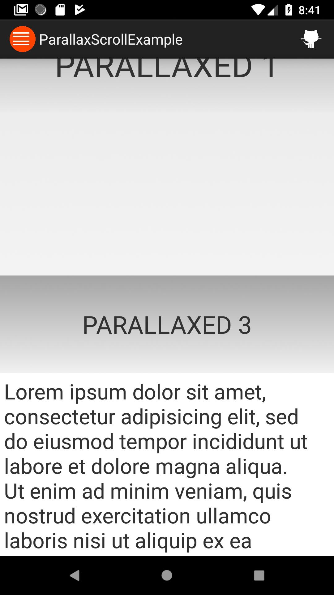 ParallaxScroll - Bountysource