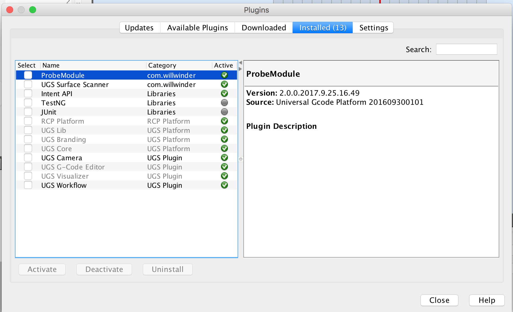 More advanced probing plugin · Issue #738 · winder/Universal