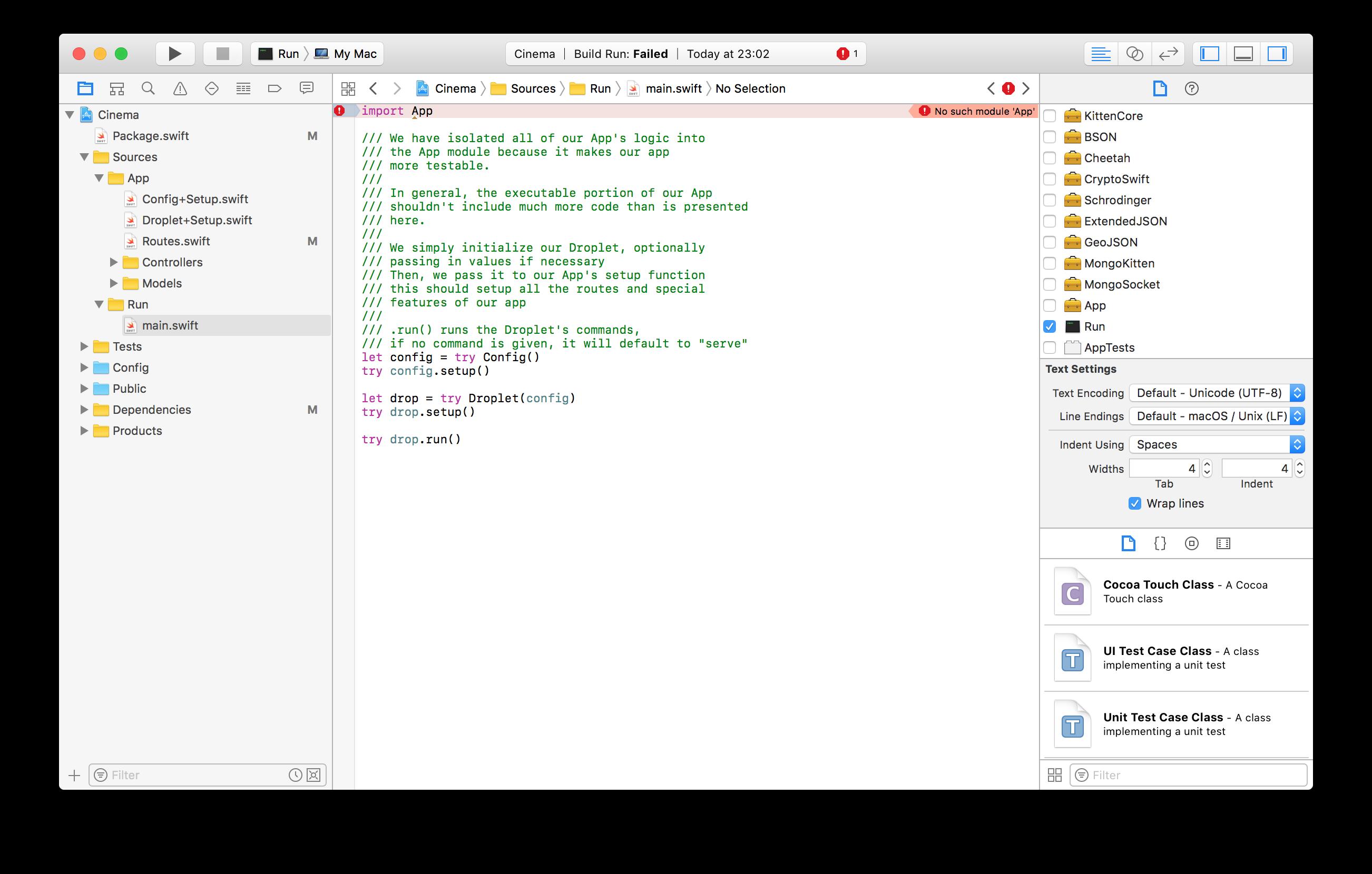 Xcode - no such module Vapor · Issue #714 · vapor/vapor · GitHub