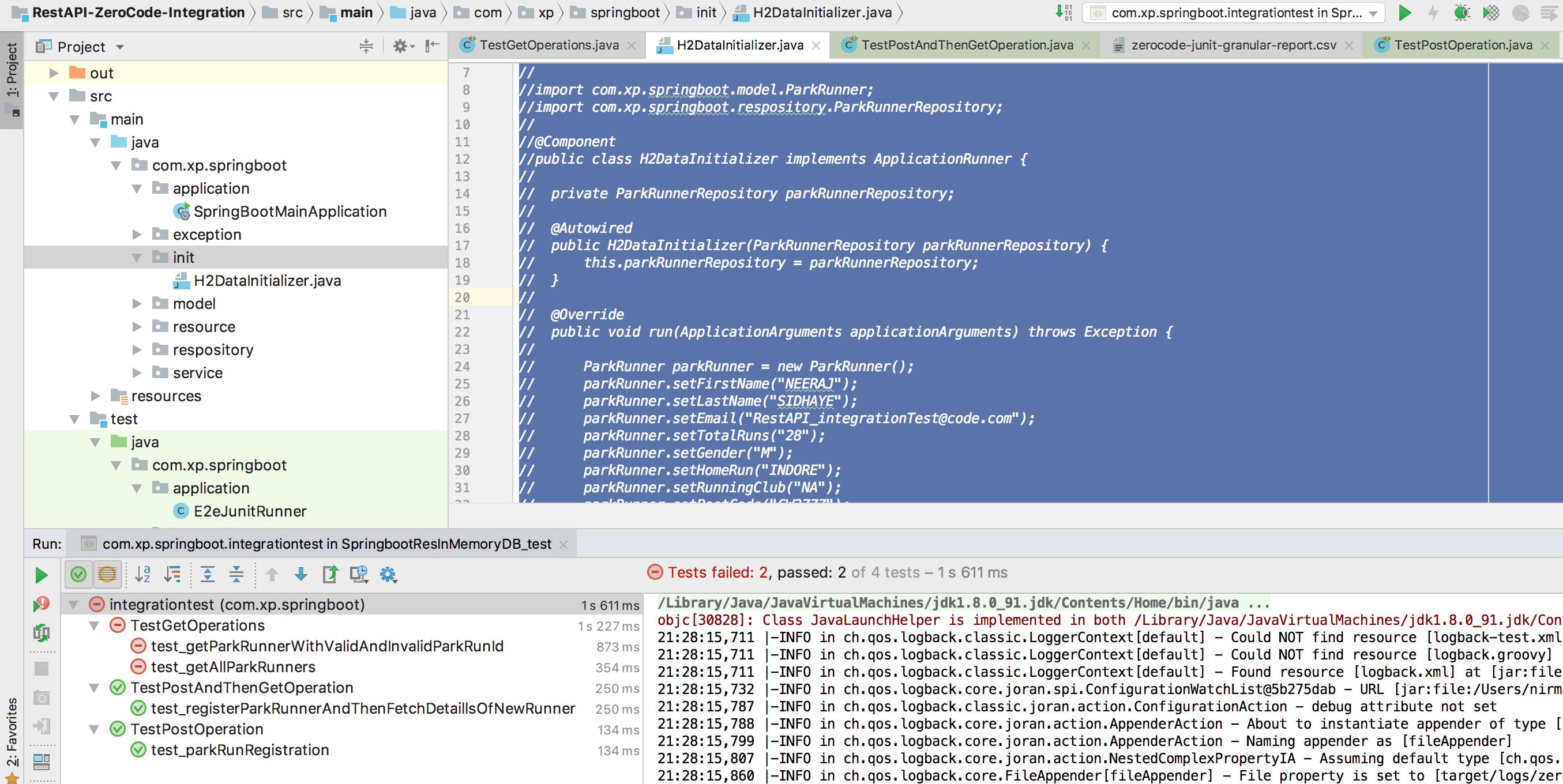 Spring boot + spring Data + h2 in-memory DB = hibernate