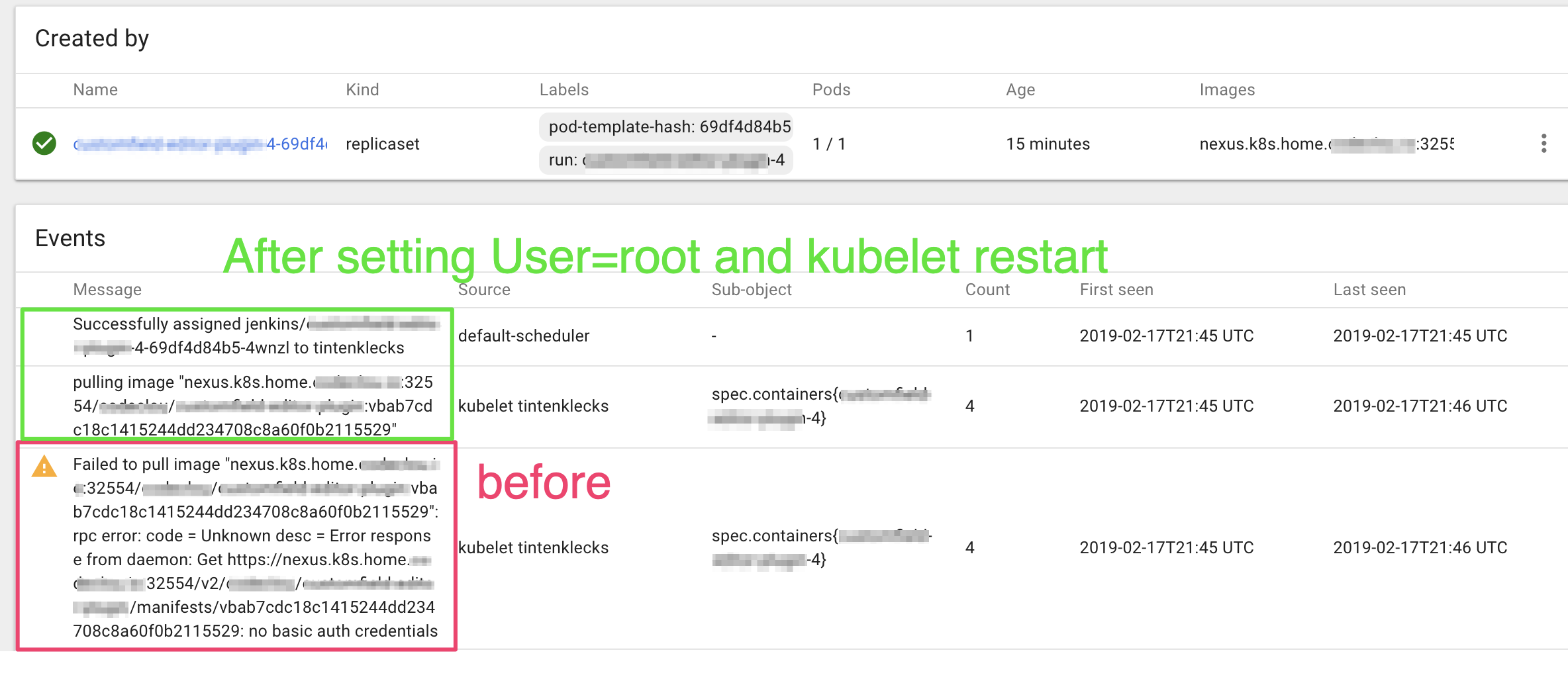 kubernetes ignores /root/ docker/config json · Issue #45487