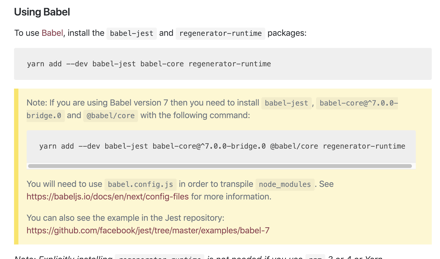 install babel core 7