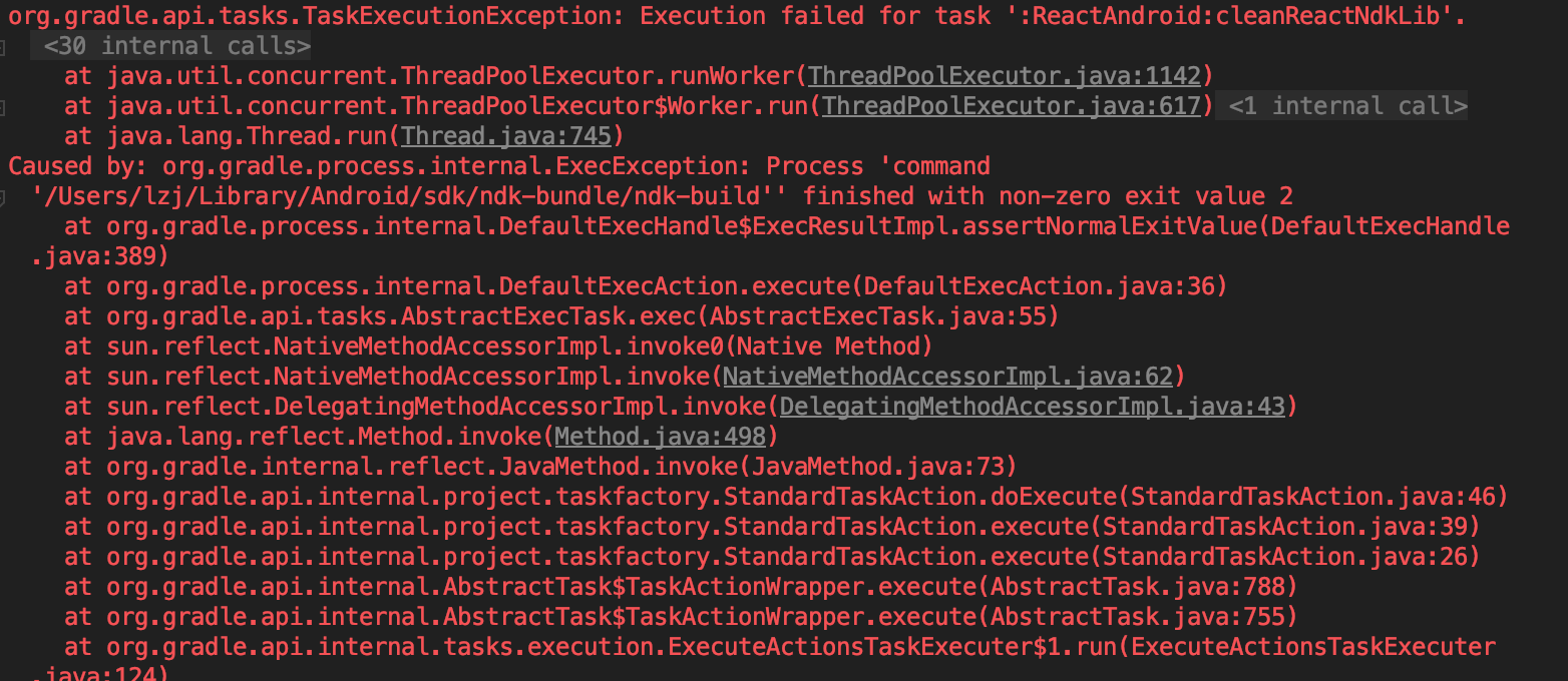 org gradle process internal ExecException: Process 'command