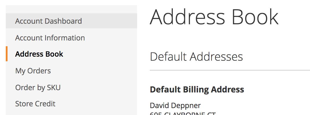 Customer Address