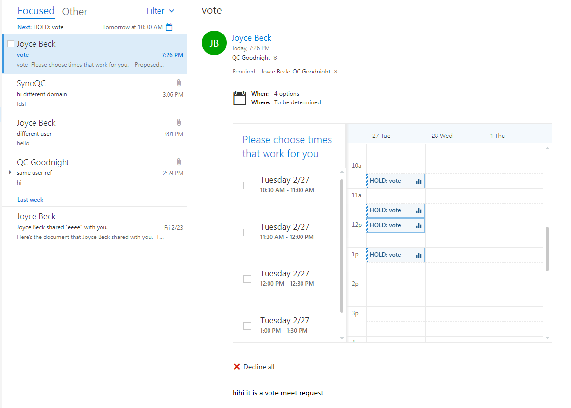 Outlook] create messages to be MeetingRequest · Issue #2269