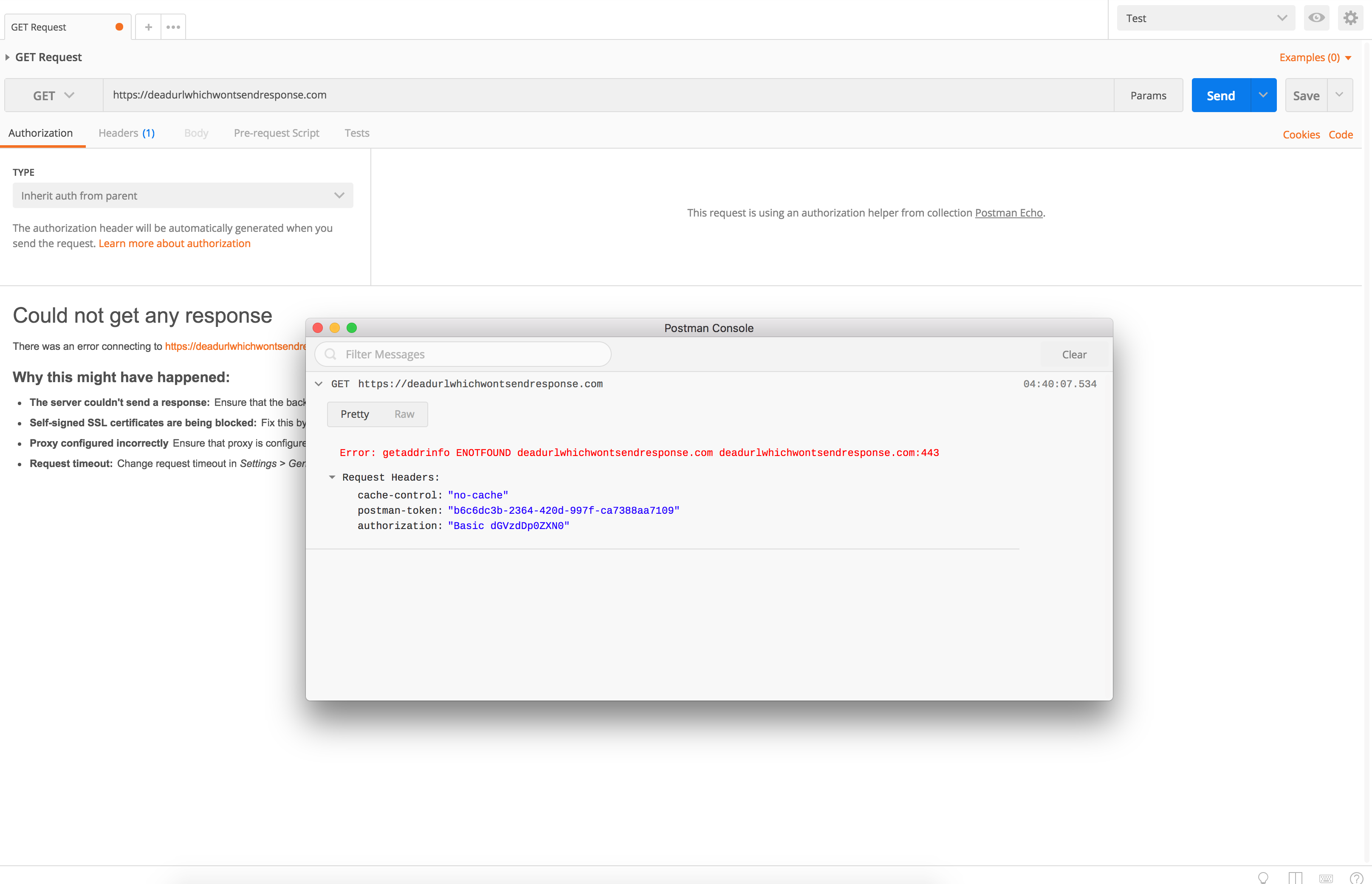 Exception Response is not Displayed by Postman · Issue #4068
