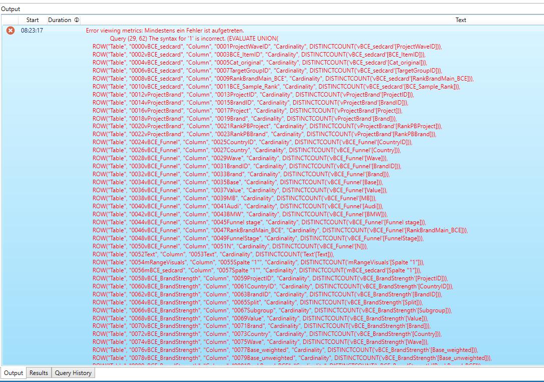 DAXStudio_ViewMetrics_Error_Output
