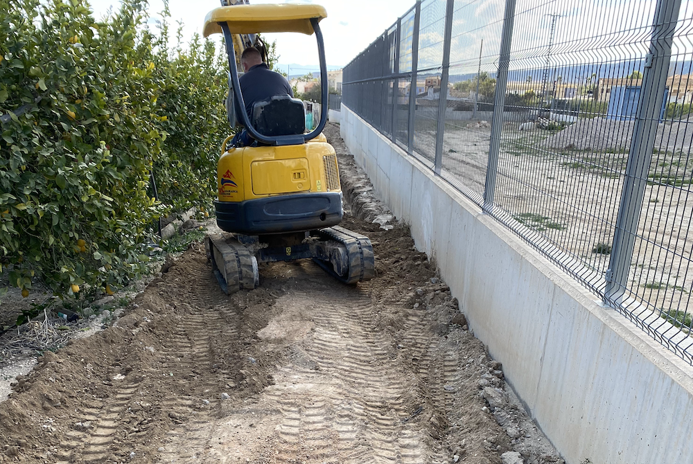 Covering the old ditch