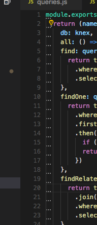 Dots appearing in first column of indentation · Issue #48098