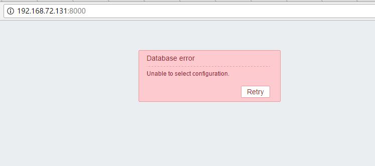 cannot use database