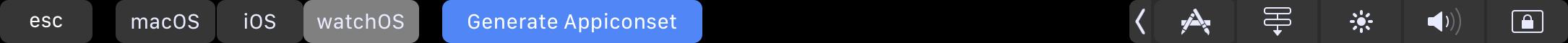 appiconset-generator-touchbar