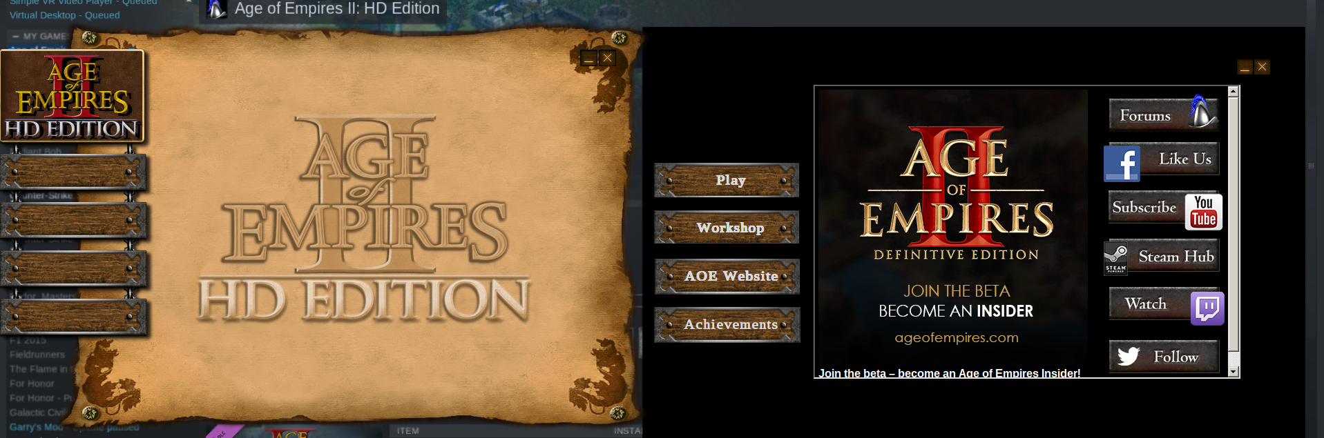 Age of Empires 2 HD (221380) · Issue #72 · ValveSoftware