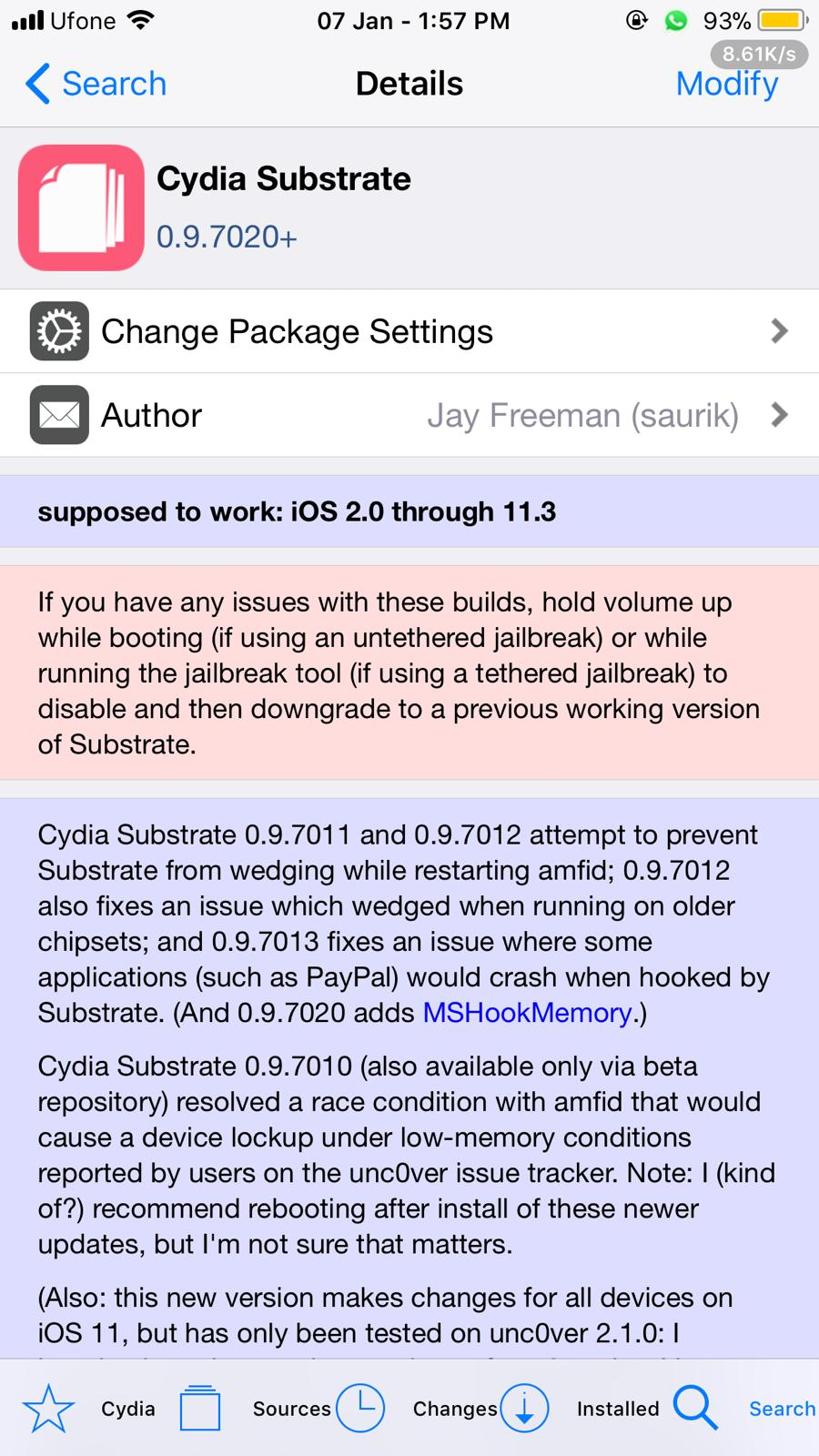 Device freezing after installing new substrate · Issue #165