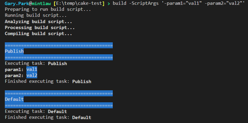 Exception when using ScripArgs with >1 param in powershell