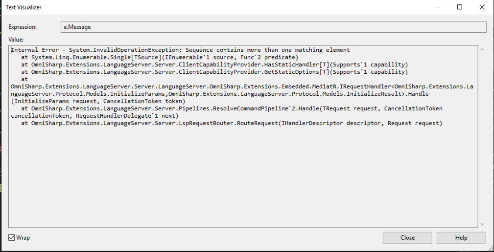 LSP Server not working in Visual Studio · Issue #132