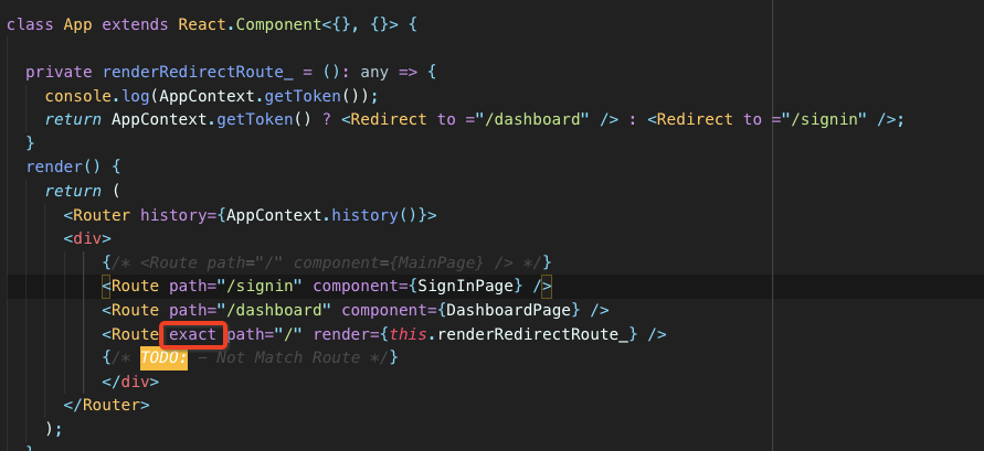 React Router Redirect