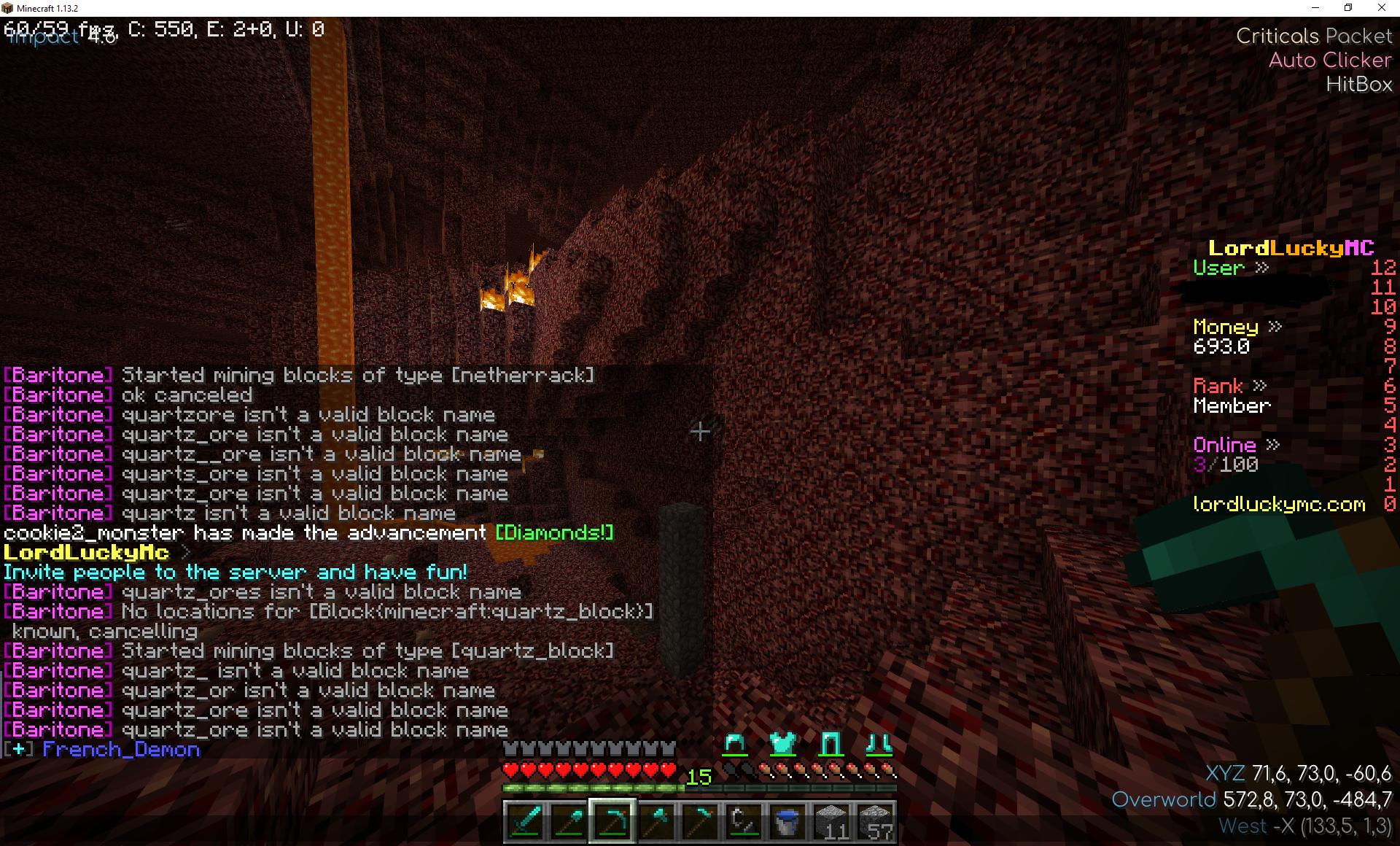 quartz_ore isn't a valid block name · Issue #483 · cabaletta