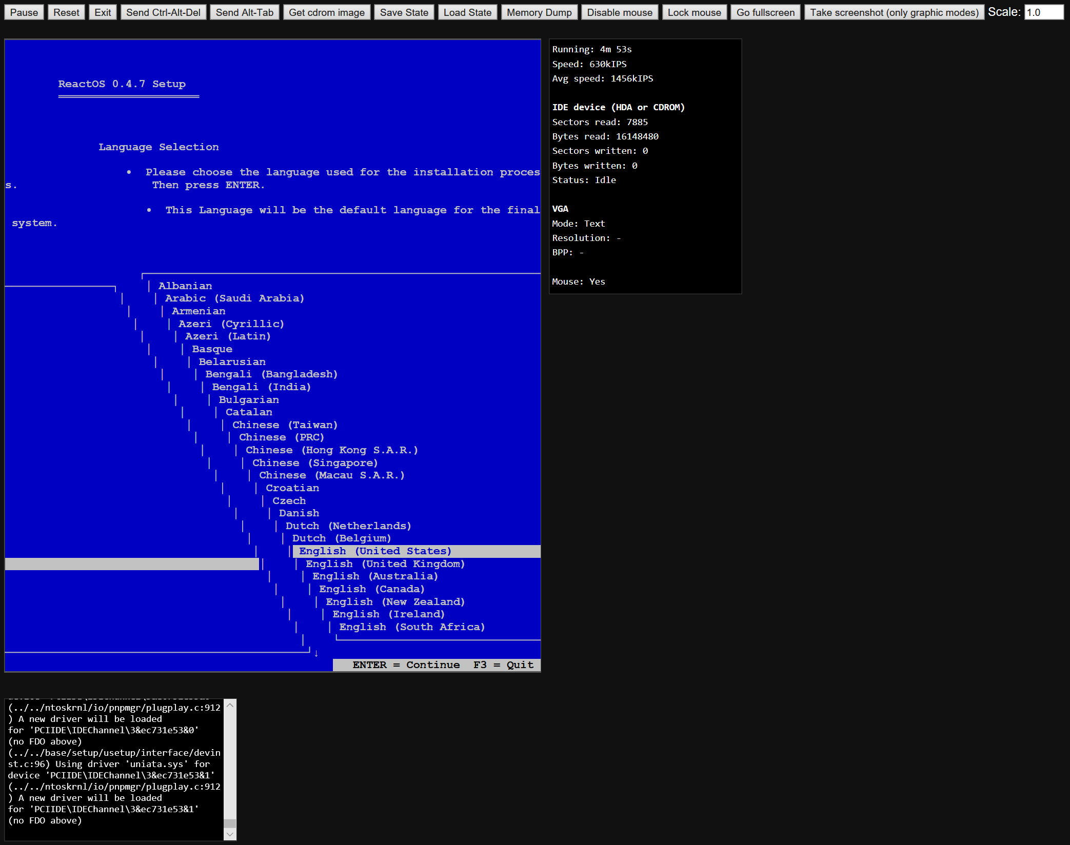 Visual oddity when booting ReactOS installer/bootcd · Issue #179