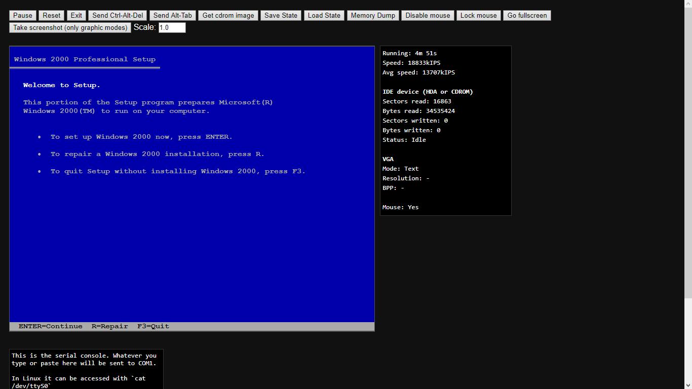 BSoD in Win2K Setup · Issue #296 · copy/v86 · GitHub