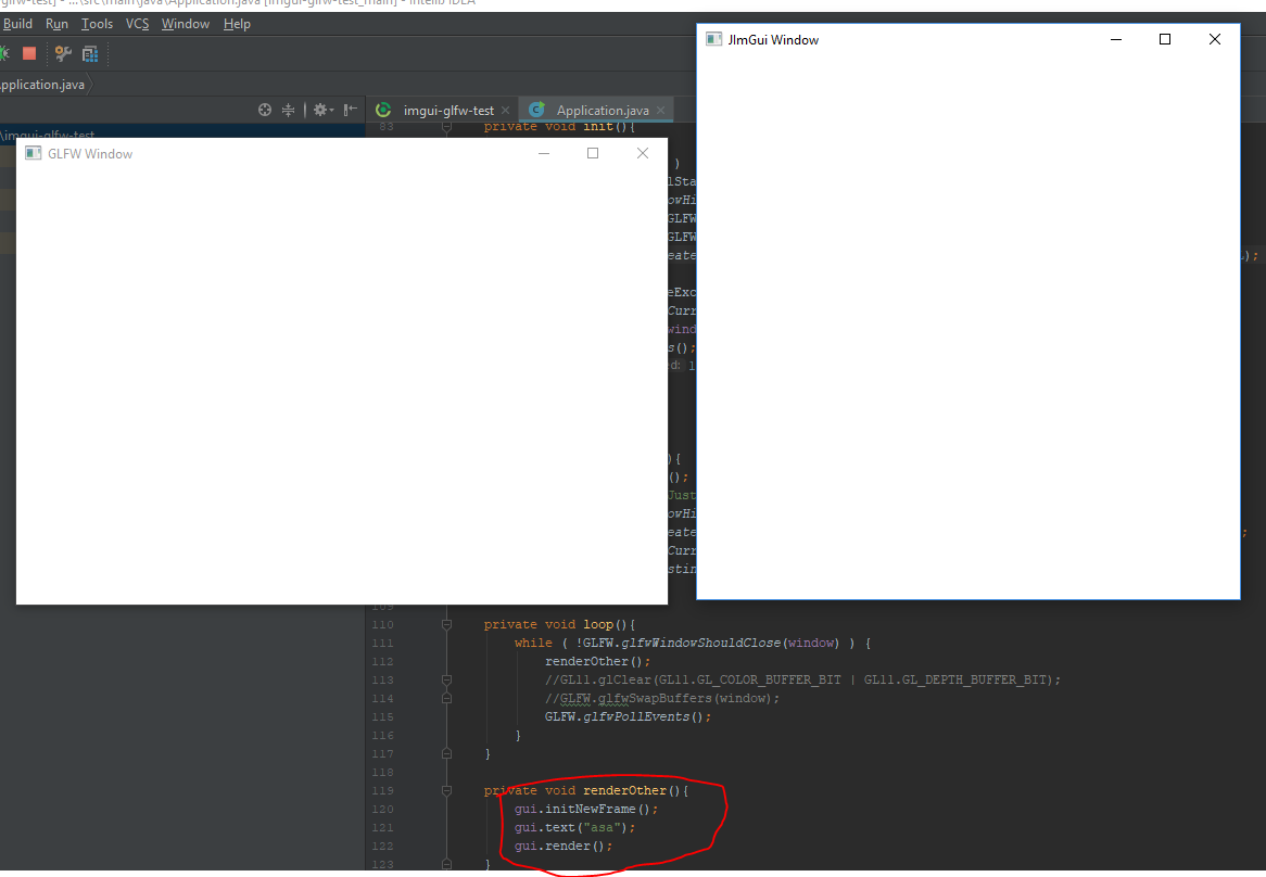 Create imgui window from existing window pointer using GLFW