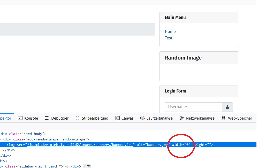 Joomla Issue Tracker Joomla Cms 22065 4 0 Ux Mod Random Image Did Not Display Image Correctly If No Width And Hight Is Set