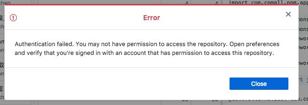 git bash authentication failed