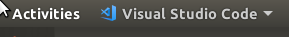 smaller version of the VS Code logo in the Activities switcher