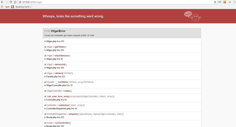 I get error in Laravel 5 5 and 5 4 · Issue #3 · Clystnet/Vtiger · GitHub