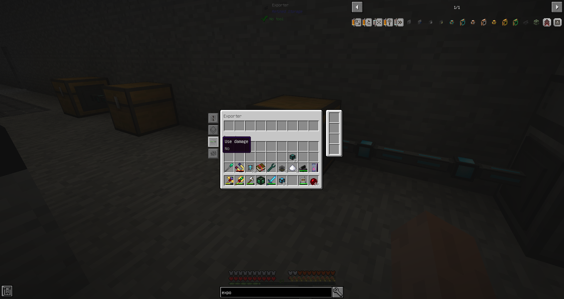 Advanced item filter still bugged in Refined Storage conduits