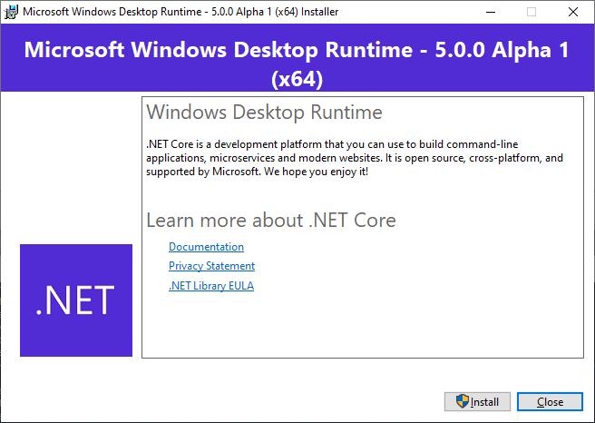 Determine branding for WindowsDesktop shared framework
