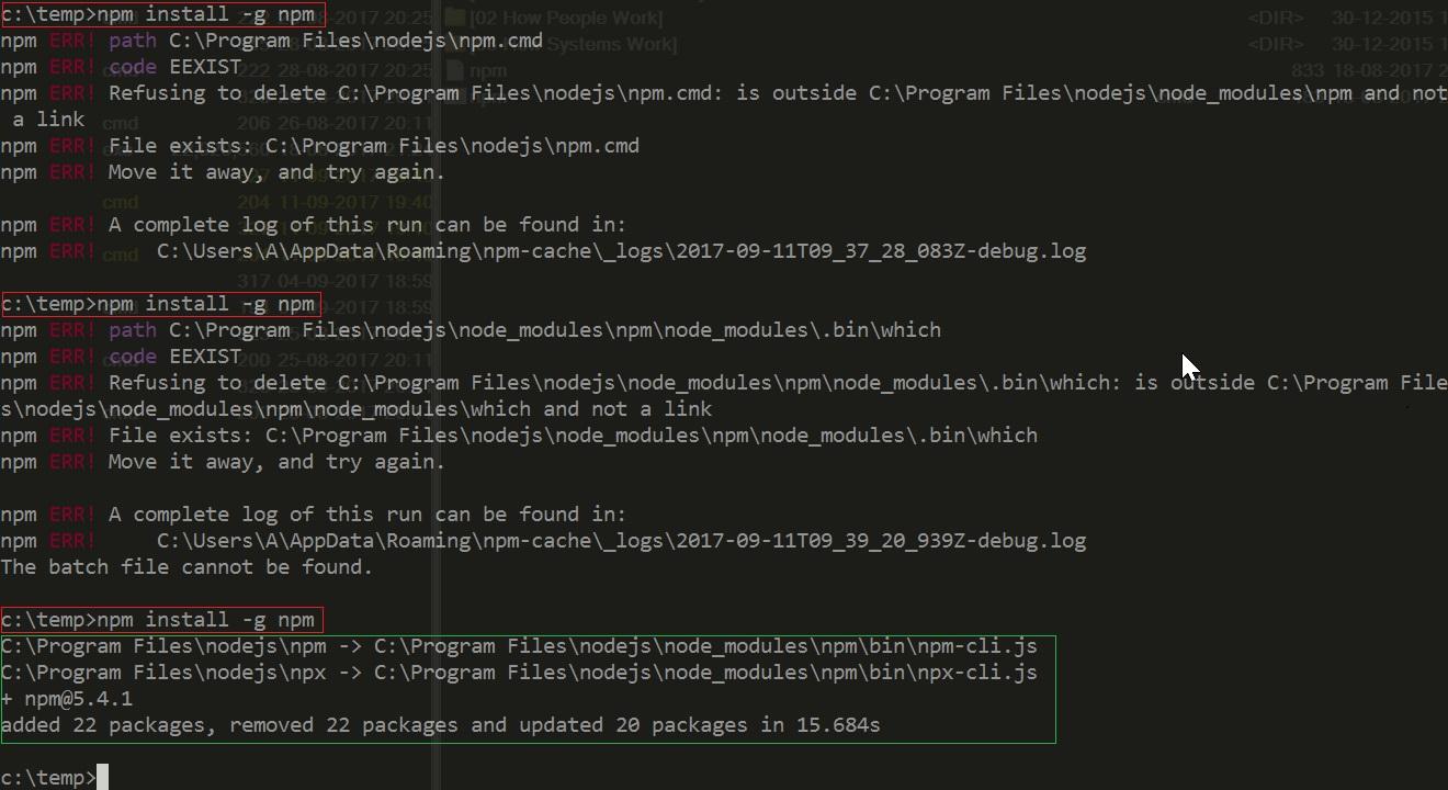 Cannot update npm (node 8 4 0) · Issue #300 · coreybutler/nvm