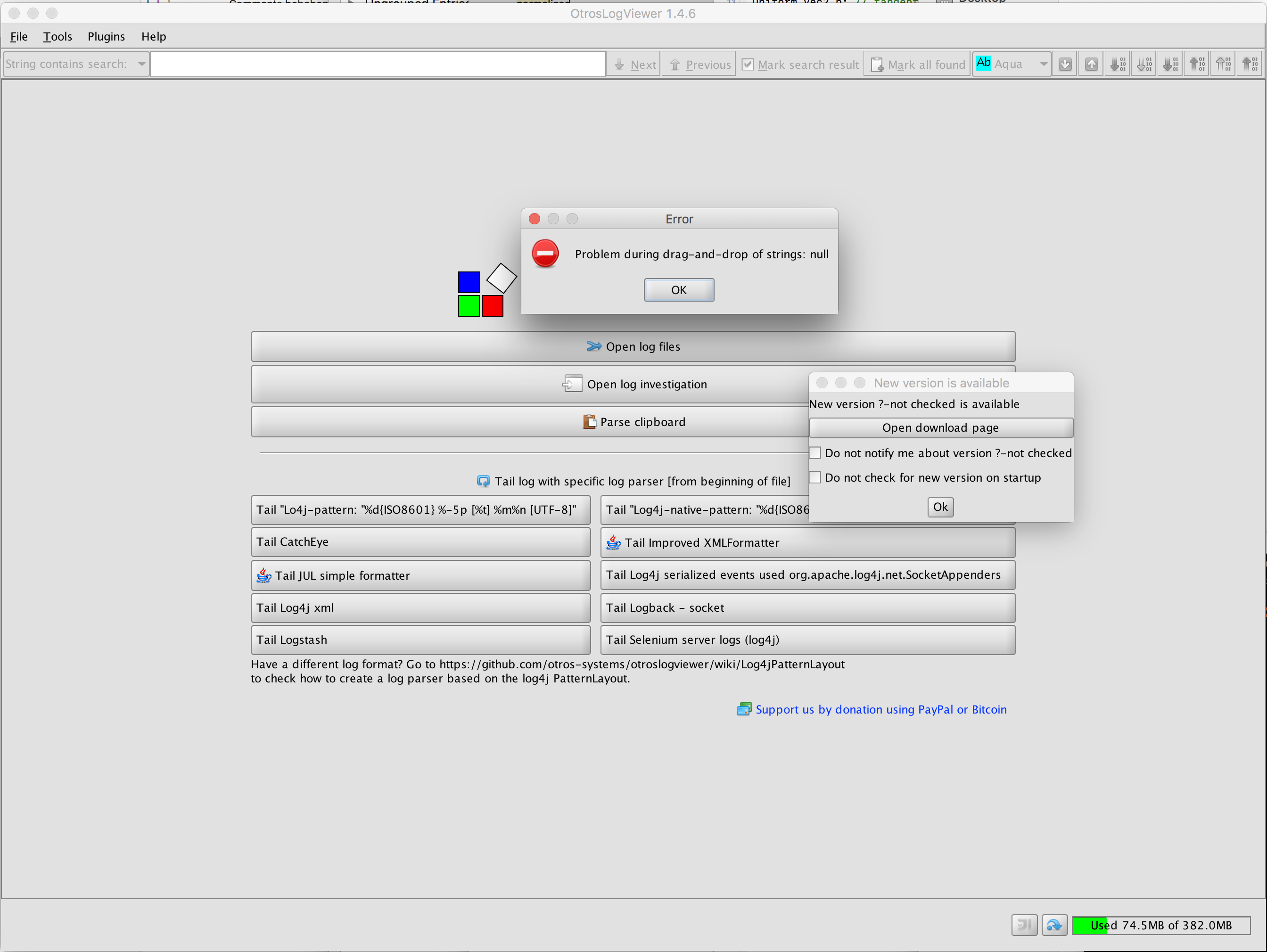 Drag and Drop not working on Mac OS X 10 12 6 · Issue #446 · otros