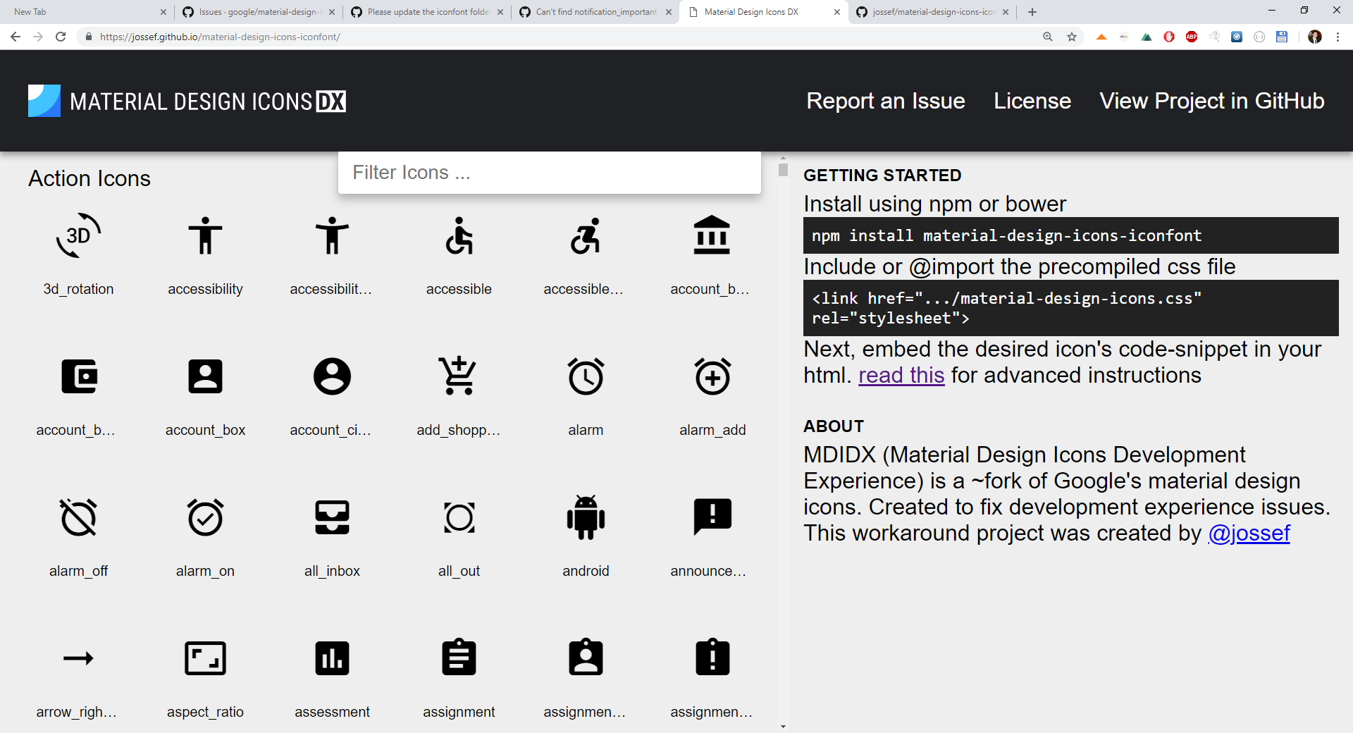 MD icons not working in IE11 · Issue #752 · google/material