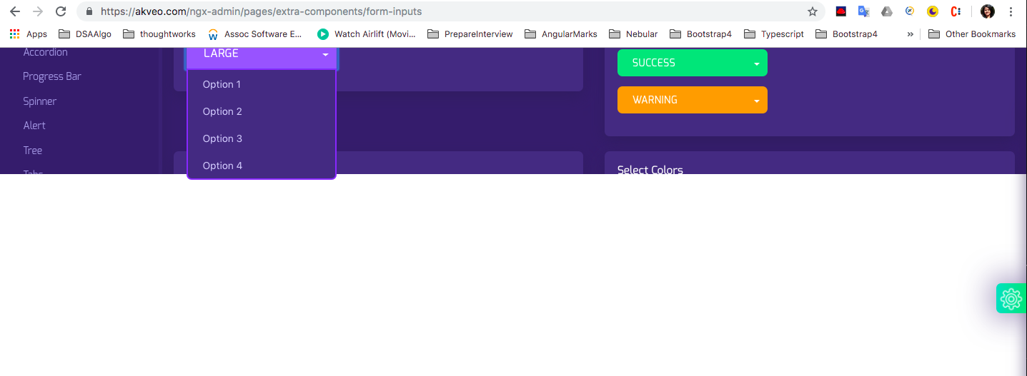In all Browsers (Chrome, Safari, Firefox), nb-select component does