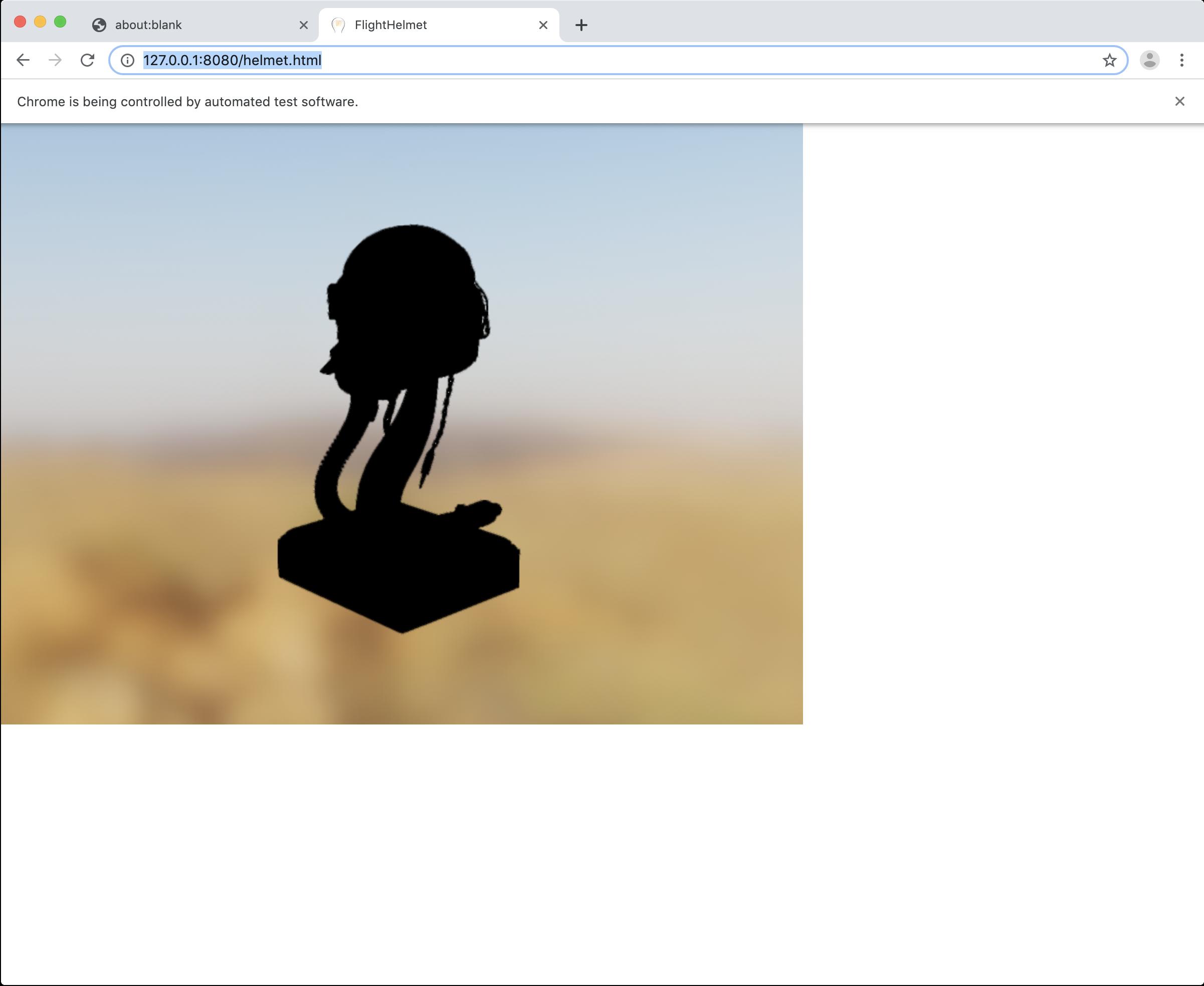 glTF models are black with WebGL + SwiftShader · Issue #1380