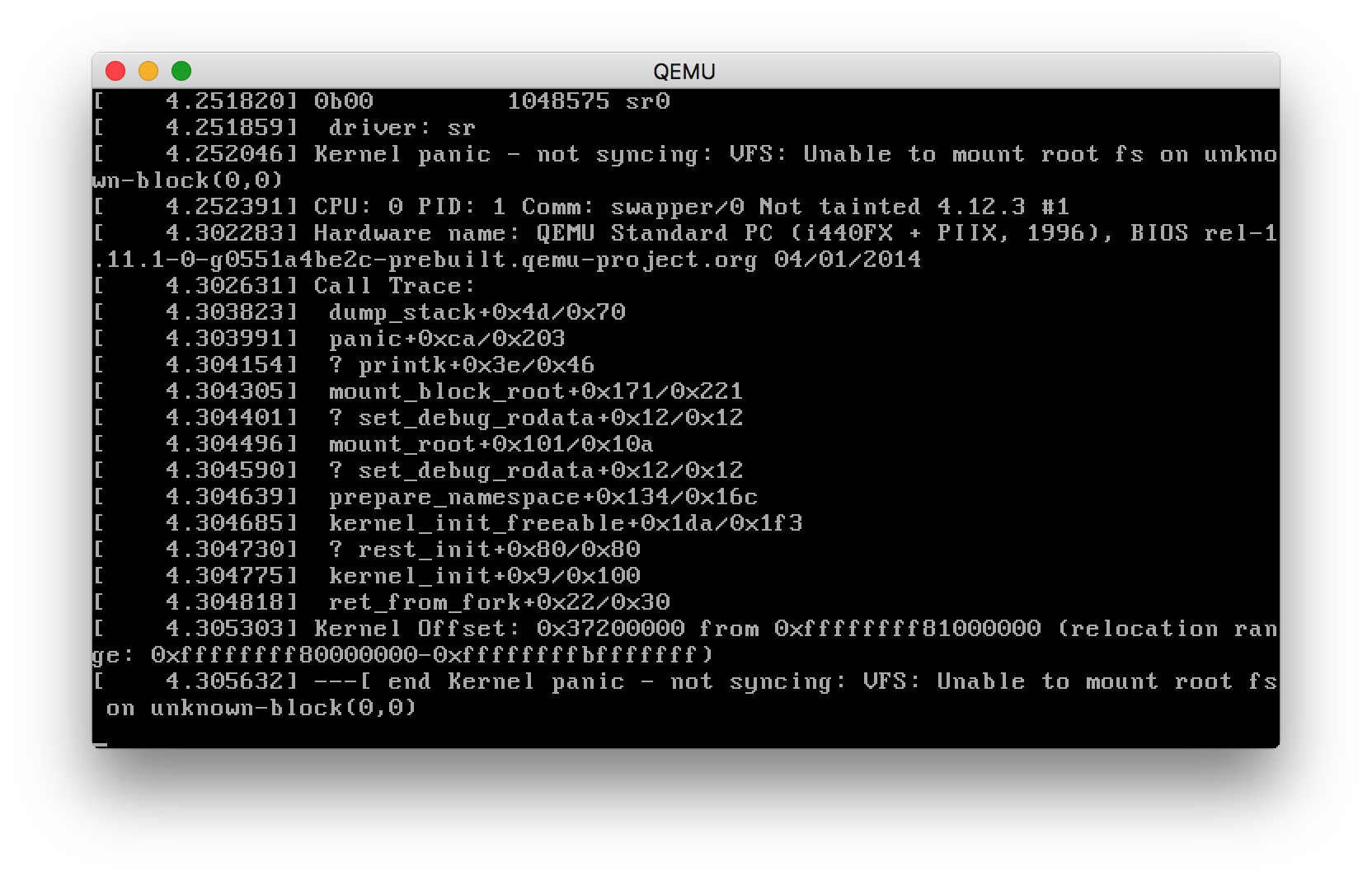 Kernel Panic: Unknown block device · Issue #10 · ivandavidov/minimal
