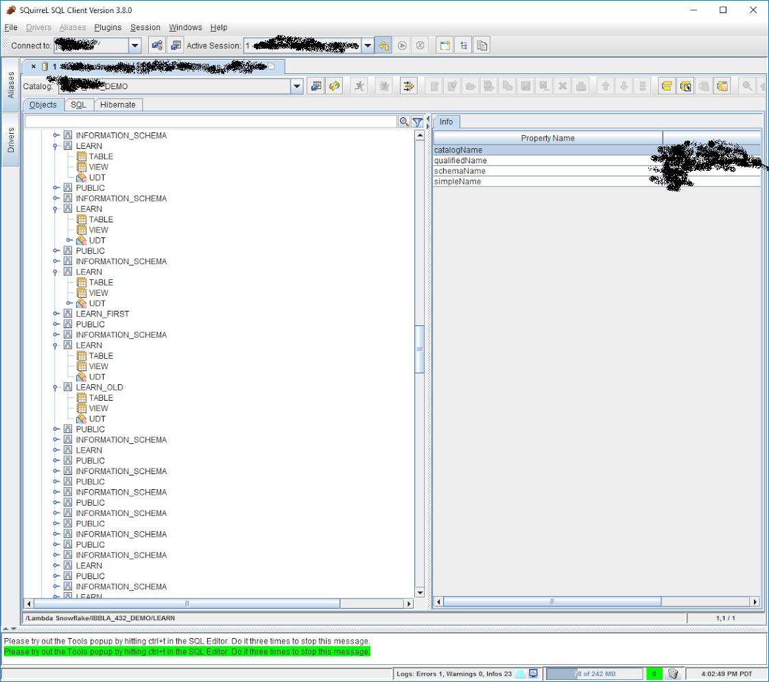 JDBC Database Metadata incorrect · Issue #5 · snowflakedb