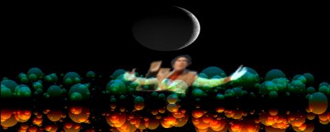 Carl Sagan in a WebGL2 cosmos