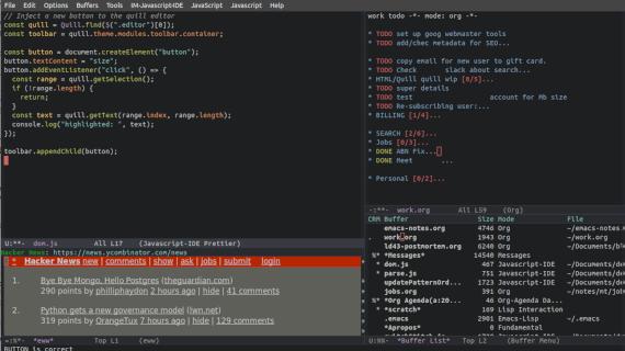 Emacs. Emacs