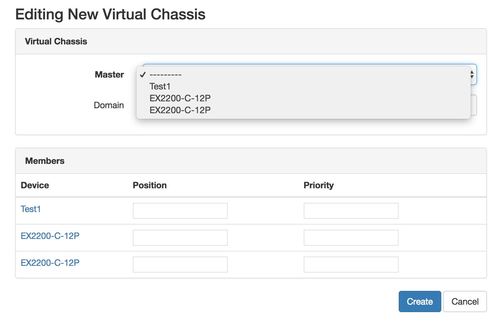 When creating/editing a Virtual Chassis, unnamed devices need more