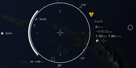 Zenith indicator pointing the wrong way