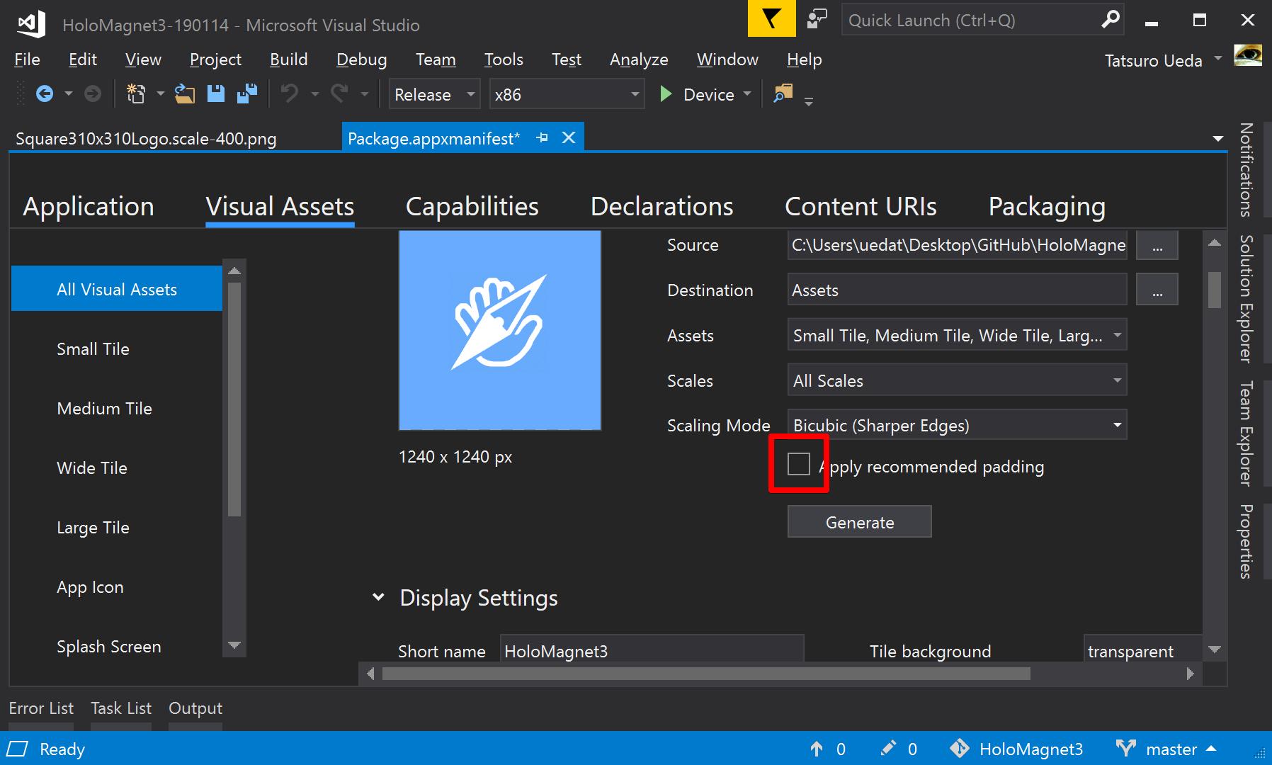 HoloMagnet3-190114 - Microsoft Visual Studio 2019-05-20 10 53 49