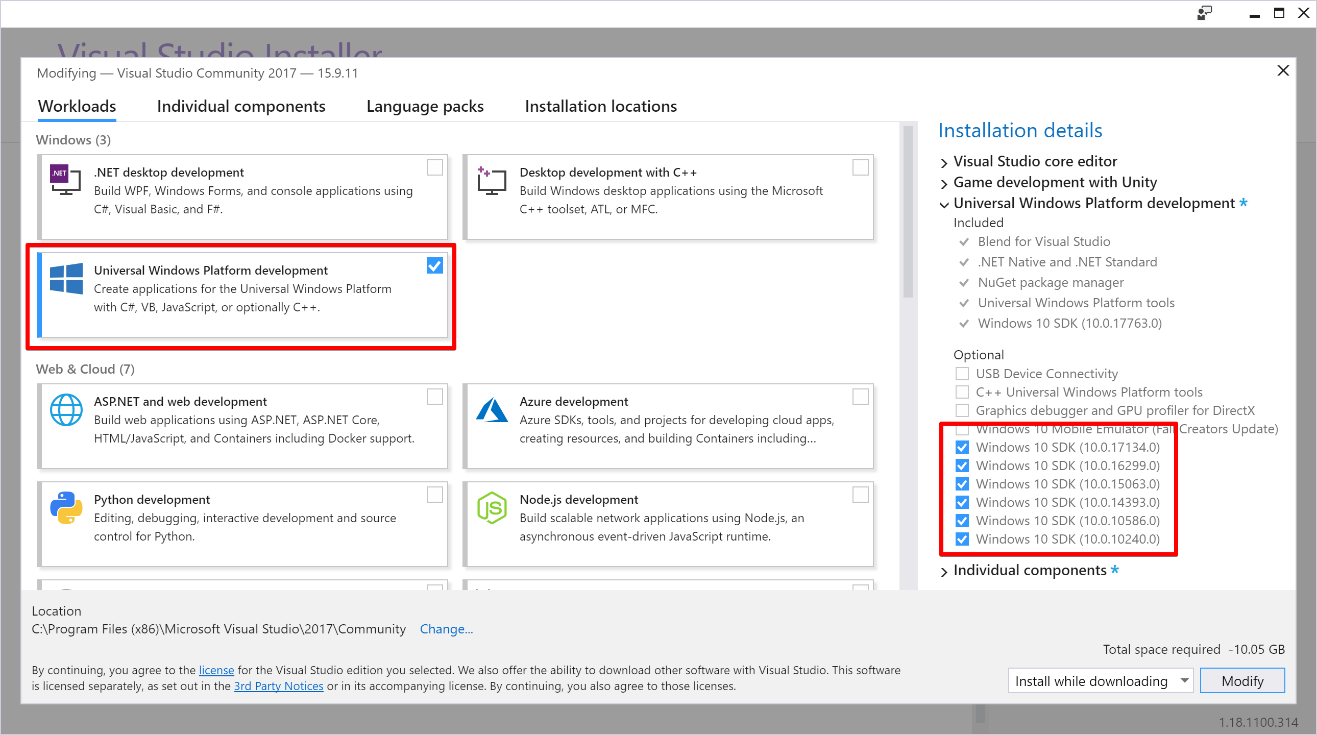 Visual Studio Installer 2019-06-19 16 59 55