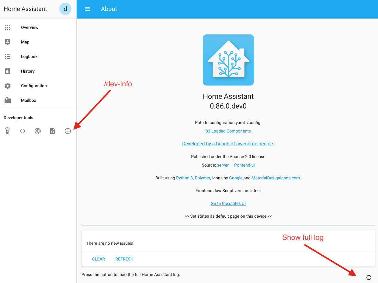 Home Assistant Log