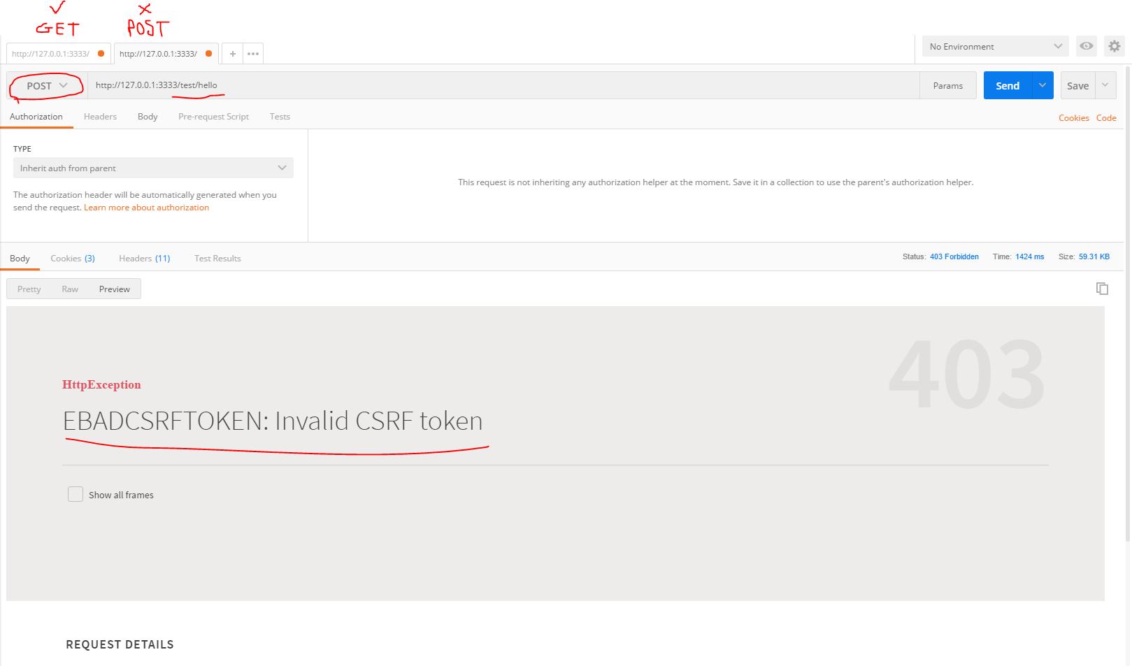 Invalid CSRF token using Axios · Issue #776 · adonisjs