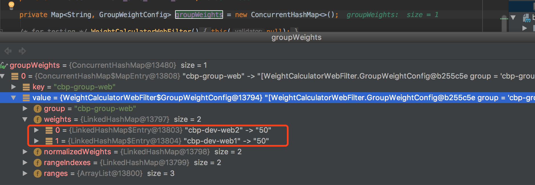 When I dynamically modify the weight routing, it does not work