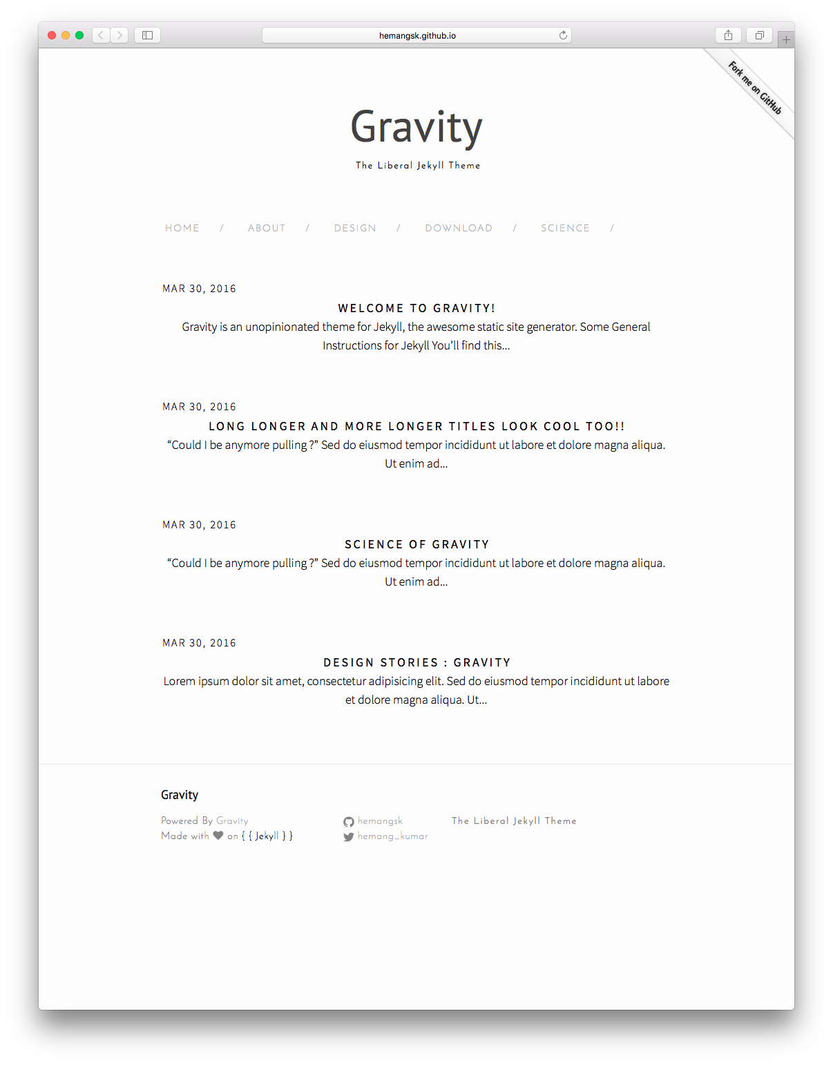 Welcome to Gravity